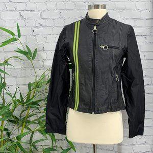 Wilsons Leather Maxima Black Leather Moto Jacket